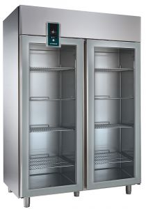 Nordcap Umluft-Gewerbetiefkühlschrank TKU 1402-G Premium