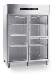 Afinox Tiefkühlschrank ENERGY 1400 BT - 2PV GLASS