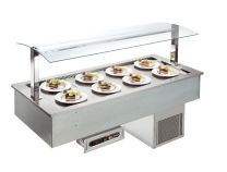 AFINOX Einbau Salatbar SL-BLUE 2/1 GN forcierte Kühlung Tief 20 cm.