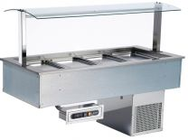 AFINOX Einbau Salatbar SL-LIME 2/1 GN statische kühlung Tief 3 cm.