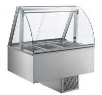 AFINOX Einbau Salatbar SL-GREY 4/1 GN forcierte Kühlung Tief 20 cm.
