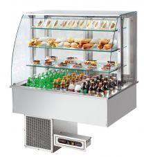 AFINOX Einbau Salatbar SL-PLATINUM 4/1 GN forcierte Kühlung Tief 20 cm.