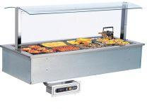 AFINOX Einbau Salatbar SL-ORANGE 3/1 GN heisse ausführung heisse luft Tief 20 cm.