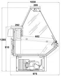 ARNEG Kühltheke WIPPER/2 VD 1200